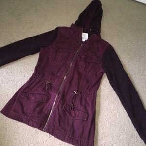 dressy/casual maroon coat/jacket